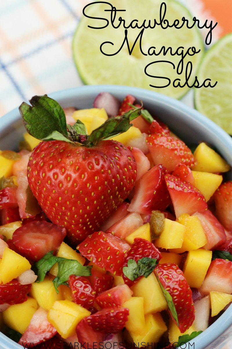 Move the boring salsa to the fridge, because this recipe for Strawberry Mango Salsa recipe could easily become your family's new favorite!