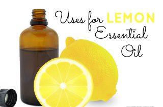 Uses for Lemon Essential Oil