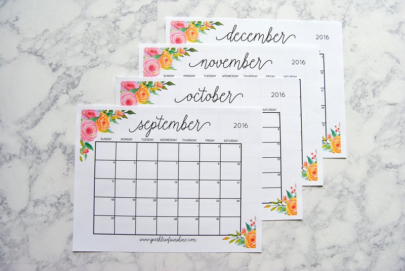 stay organized with this free printable 2017 calendar and weekly planner includes september december