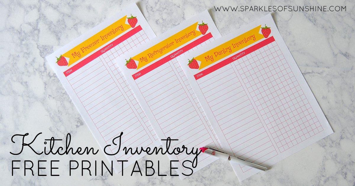 Kitchen Inventory Free Printables Sparkles Of Sunshine