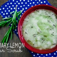 Uplift your spirits with this perfectly paired rosemary lemon sugar scrub recipe from Sparkles of Sunshine.