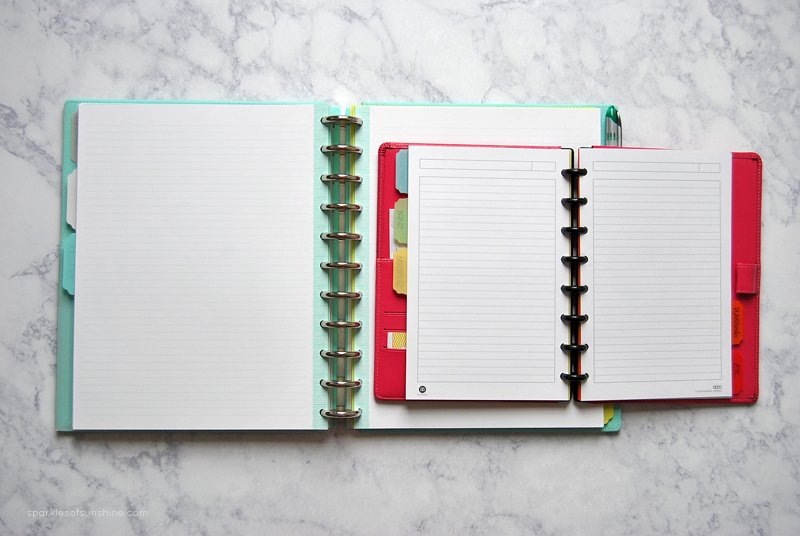 how to put a notebook in a binder