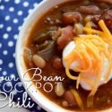 Warm up once cooler weather hits with this tasty recipe for Four Bean Crockpot Chili.