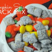 Looking for a perfect fall inspired snack mix for parties and gatherings? This Pumpkin Spice Snack Mix Recipe is your answer!