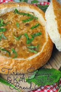 There's no better way to warm up the body and soul than with Turkey Sausage & Kale Soup Bread Bowls. Get the recipe today!
