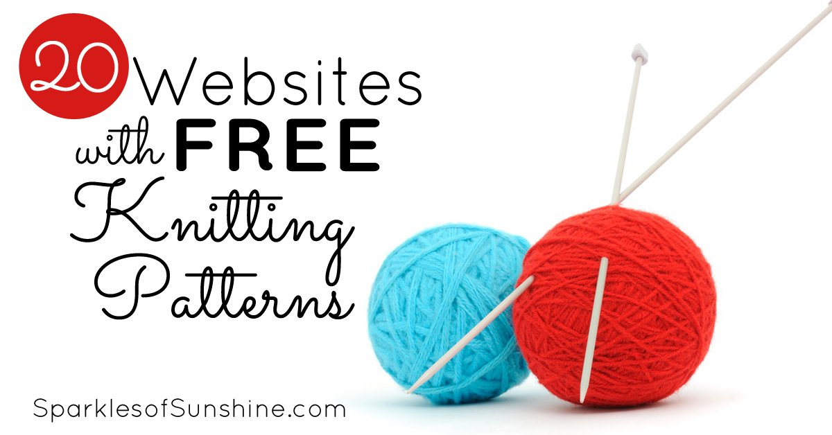 20 Websites With Free Knitting Patterns Sparkles Of Sunshine