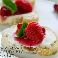 Add some color to your holiday spread with this easy appetizer idea. Get the recipe for Berries and Cream Holiday Inspired Bruschetta today!