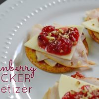 Need a last minute appetizer idea? This cranberry cracker appetizer is super quick to make, but will still wow your guests.