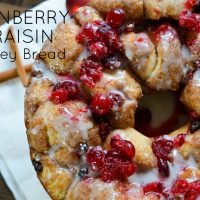 Celebrate the holidays with a tasty recipe for Cranberry & Raisin Monkey Bread. Not only does it make a beautiful display, but it's super delicious, too. Get the recipe at Sparkles of Sunshine today.
