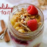 Check out this simple Holiday Parfait that will make you actually want to eat breakfast. You can even use leftover cranberry sauce!