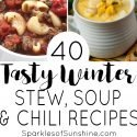 Chilled to the bone? Check out this collection of 40 tasty winter stew, soup and chili recipes that will warm your soul on chilly days.