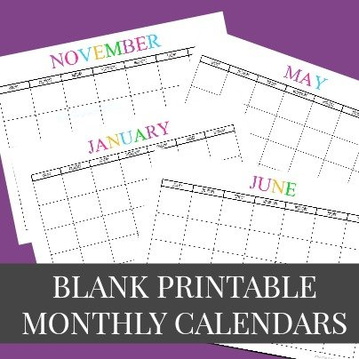 Awesome Free Printable  Calendars And Planners  Sparkles