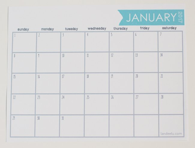 Awesome Free Printable  Calendars And Planners  Sparkles Of