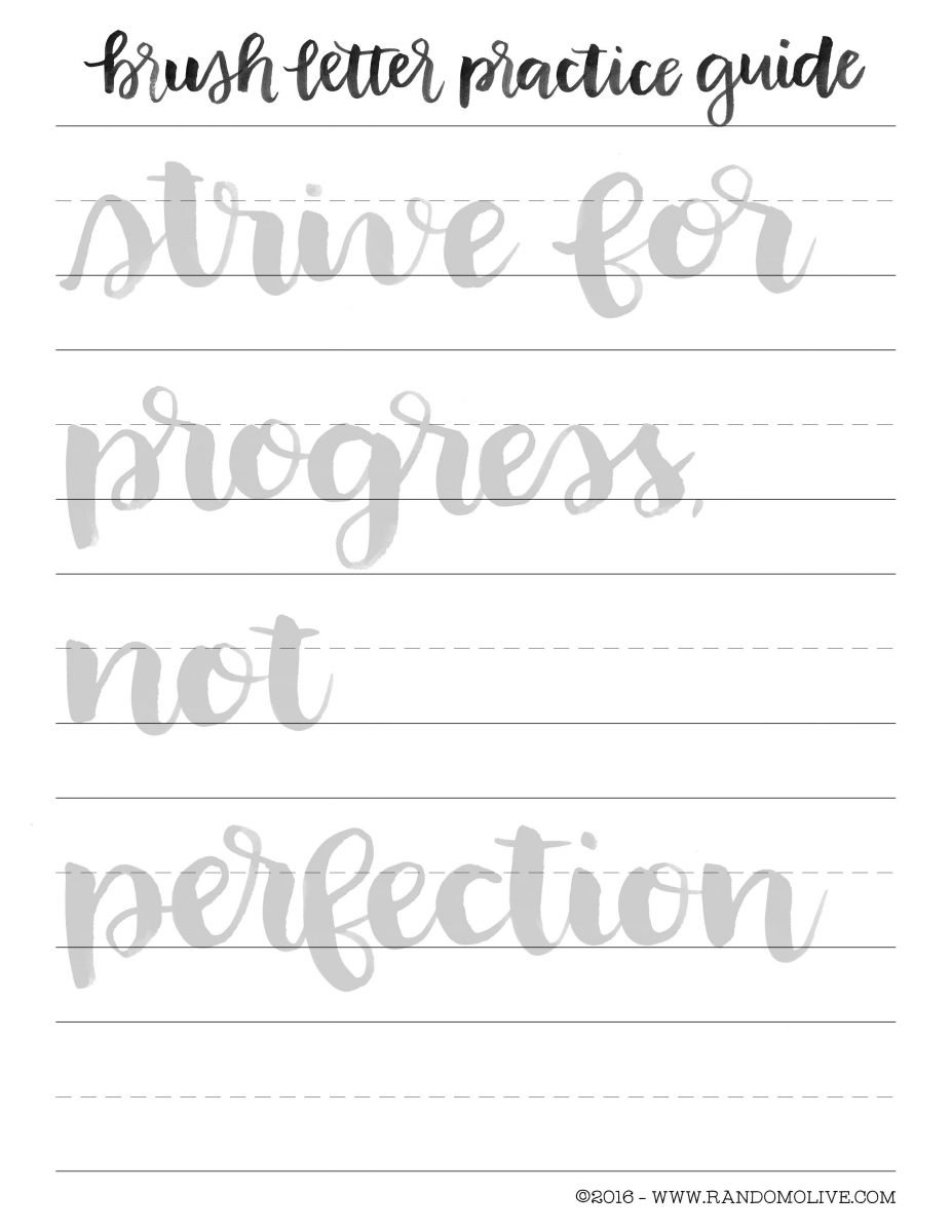 How to Do Brush Lettering the Easy Way: Free Printable Practice ...