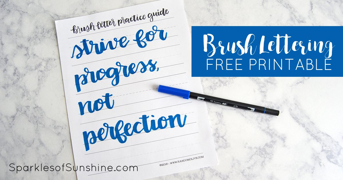 How to Do Brush Lettering the Easy Way: Free Printable ...