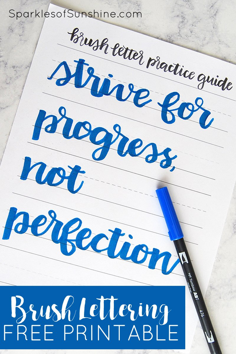 image about Lettering Printable known as How in direction of Do Brush Lettering the Simple Path: Free of charge Printable