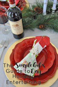 Don't stress over holiday gatherings this year. Instead, use The Simple Gal's Guide to Easy Holiday Entertaining and make hosting parties and dinners a breeze!