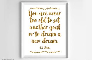You are Never Too Old: New Year's Free Printable