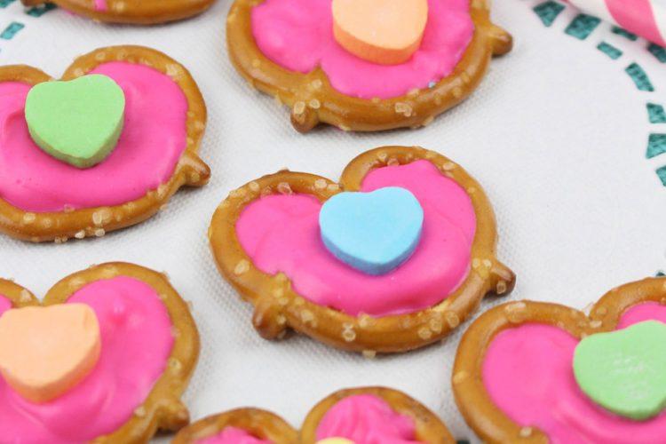 Conversation Heart Pretzel Bites for Valentine's Day