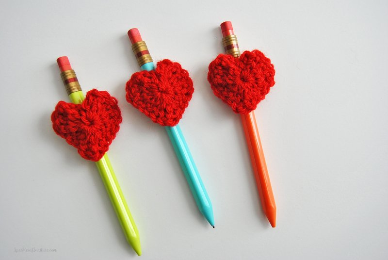 Easy Free Heart Crochet Pattern For Valentines Day Sparkles Of