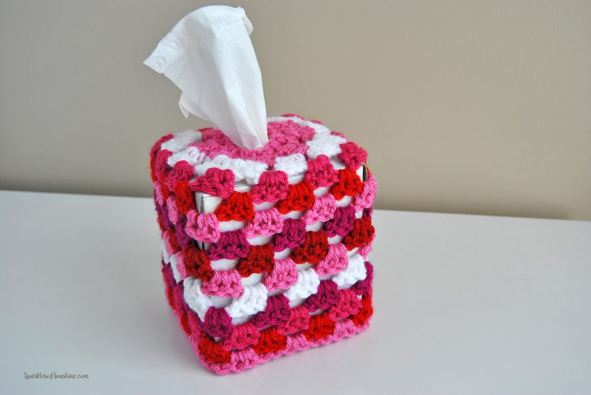 Granny Square Tissue Box Cover Free Crochet Pattern Sparkles Of