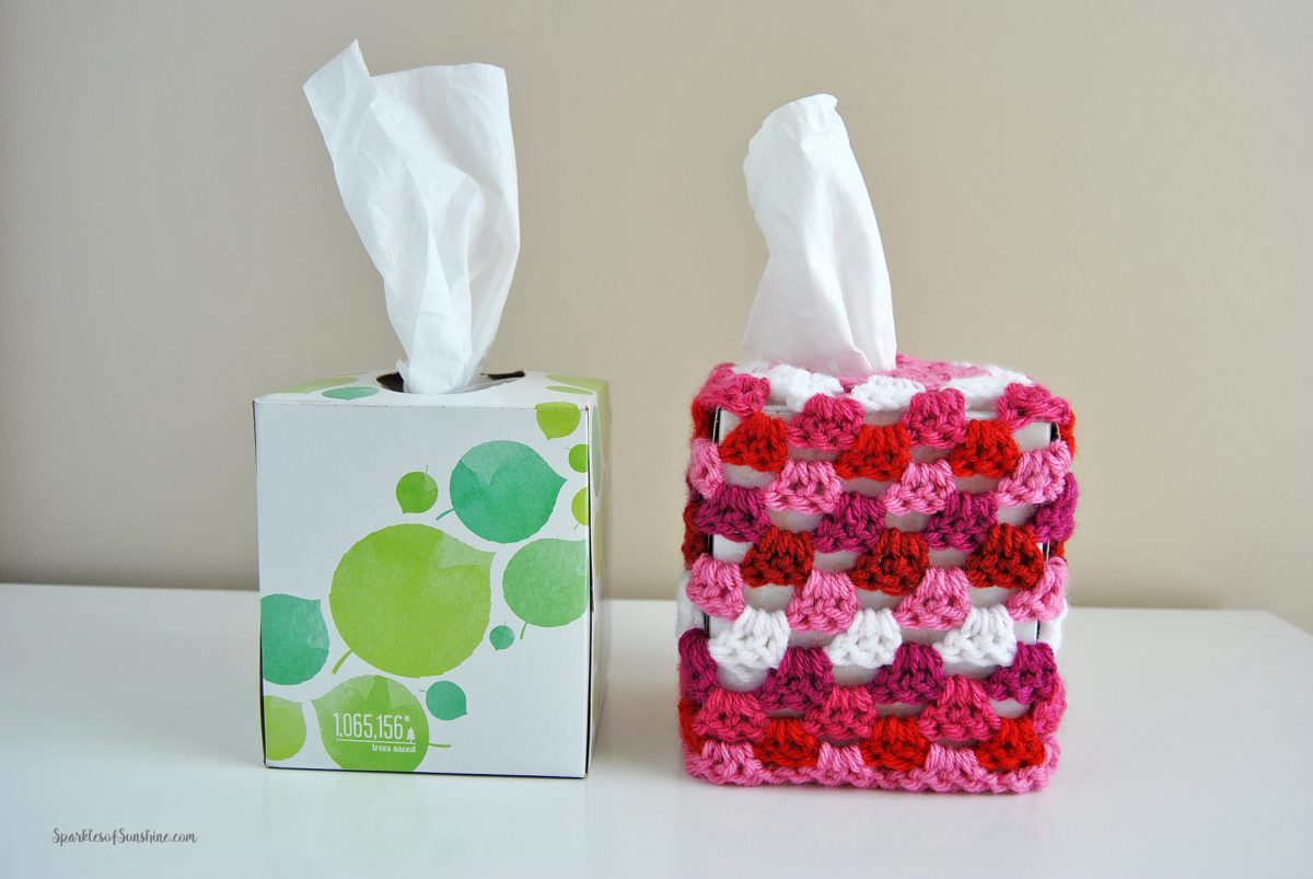 Granny Square Tissue Box Cover Free Crochet Pattern 4 - Sparkles of ...