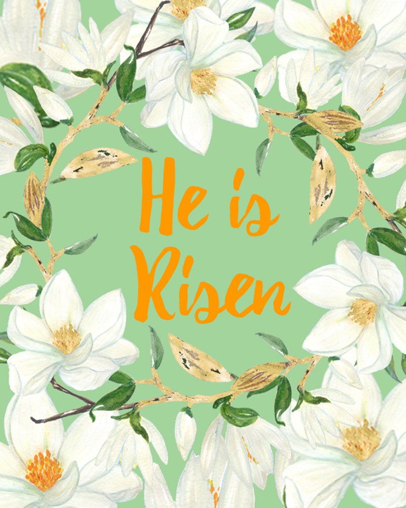 It's just a graphic of Luscious He is Risen Printable