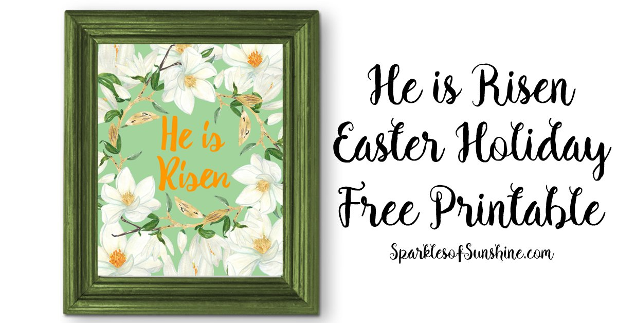 photograph about He is Risen Printable identified as He is Risen Easter Vacation Totally free Printable - Flickers of Solar