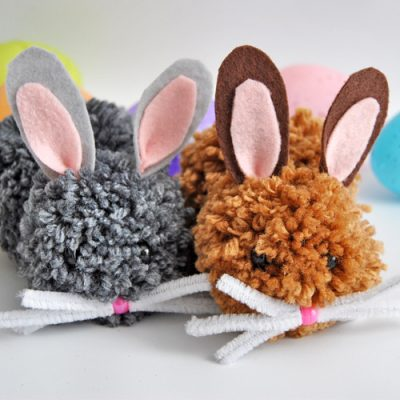 How to Make Pom Pom Easter Bunnies