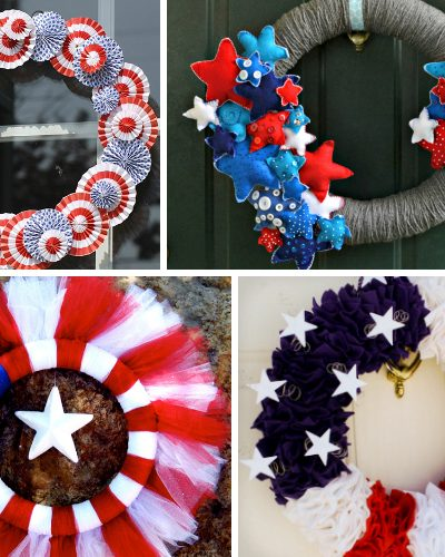 21 DIY Patriotic Wreaths to Show Your American Pride
