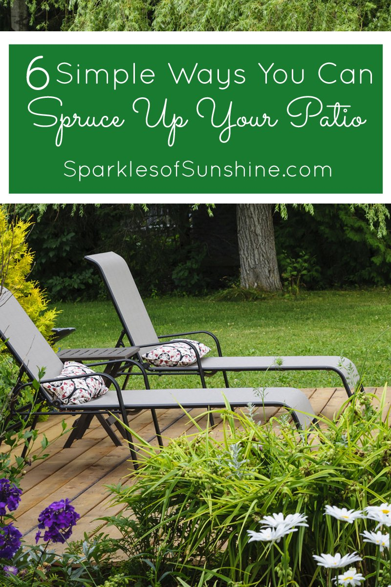 6 simple ways you can spruce up your patio sparkles of sunshine - Six ways to spruce up your balcony ...