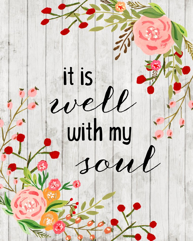 image relating to It is Well With My Soul Printable named It Is Nicely With My Soul Absolutely free Printable - Glints of Sunlight
