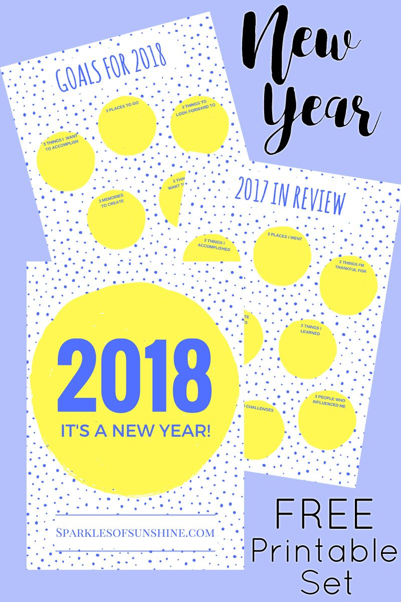 Greet 2018 with a new year free printable set sparkles of sunshine greet 2018 with a new year free printable set from sparkles of sunshine its time m4hsunfo