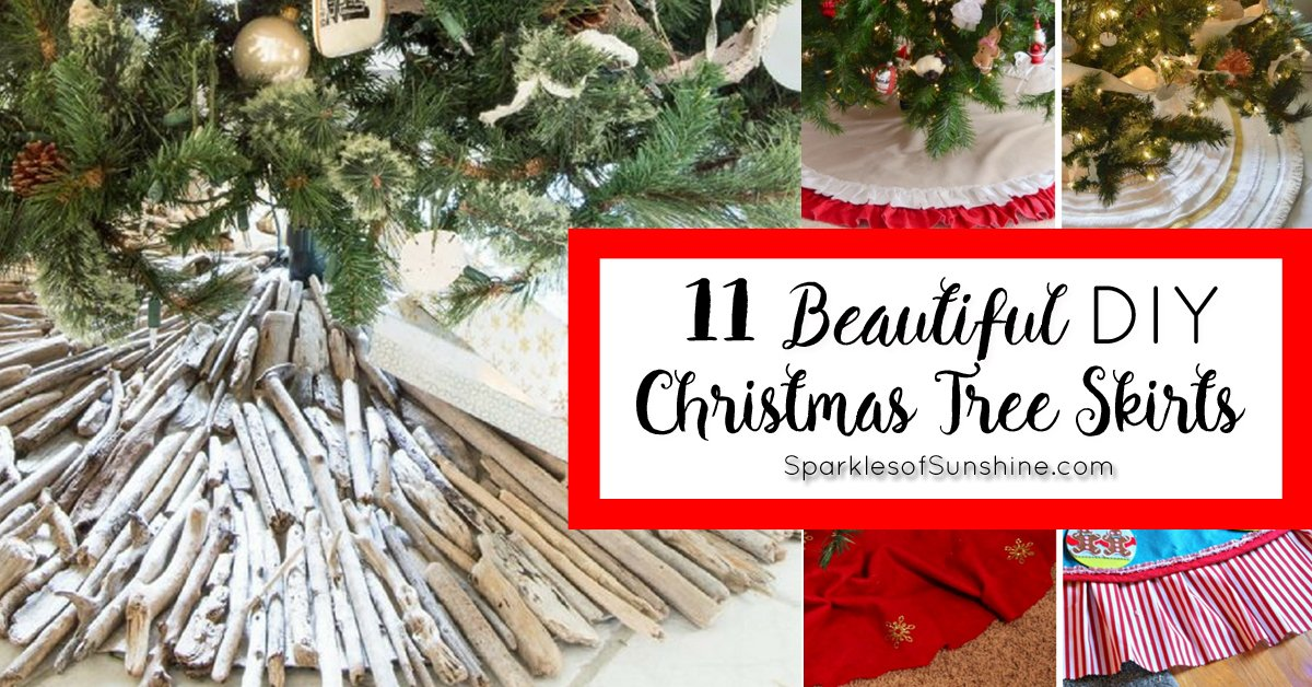 11 Beautiful Christmas Tree Skirts You Can Make Sparkles Of Sunshine