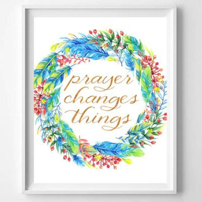 I have learned that prayer changes things, including me. Snag this printable as a reminder for you that prayer is powerful.