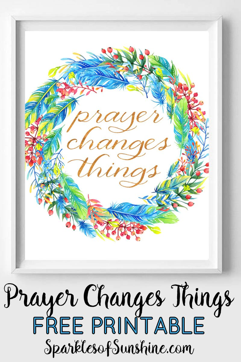 photo about Prayer Printable titled How Prayer Modifications ThingsWith a No cost Printable