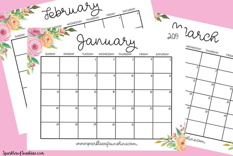 stay organized in 2019 with the free printable 2019 calendar with weekly planner at sparkles of